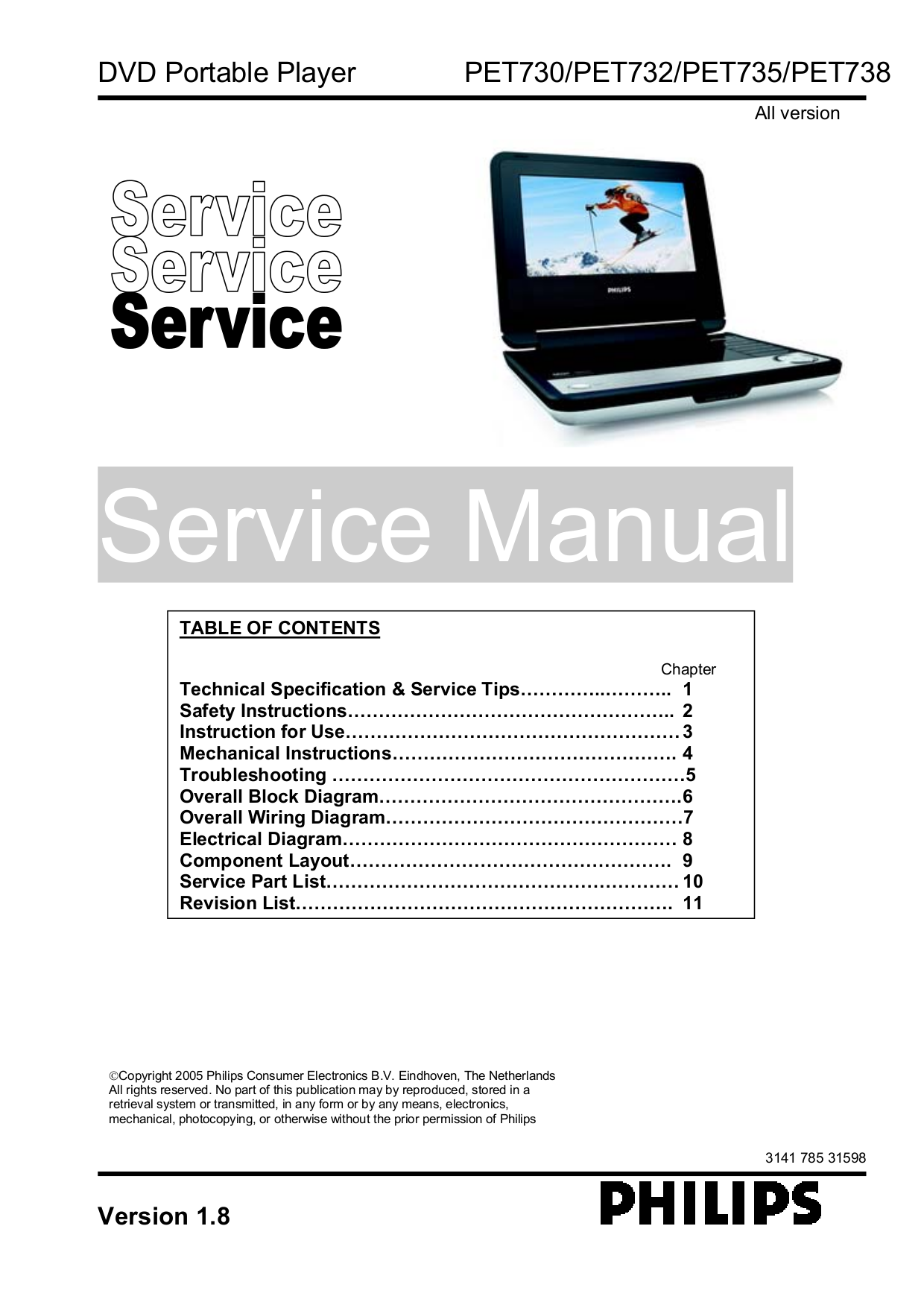 download free pdf for philips pet730 portable dvd player manual rh umlib com Philips DVD Player Manual Philips DVD Player Manual