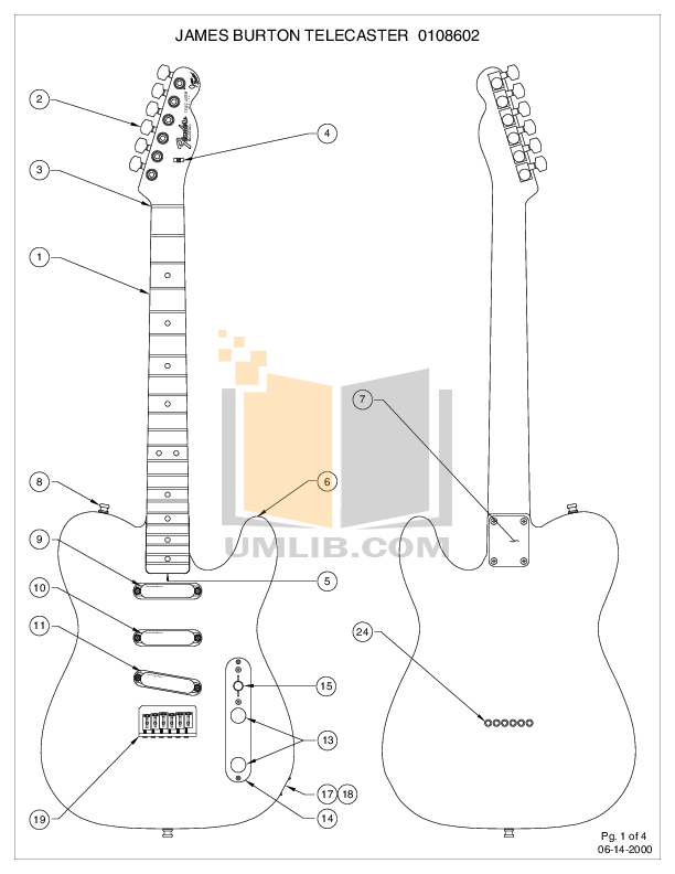 PDF manual for Fender Guitar James Burton Telecaster