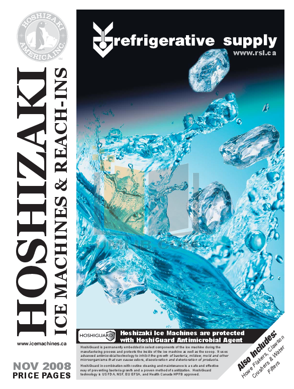 pdf for Hoshizaki Other HNC-210AA-R Merchandisers manual