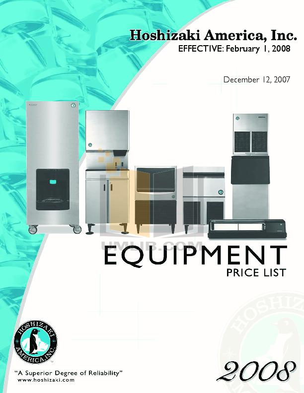pdf for Hoshizaki Other HNC-210AA-R Merchandisers manual