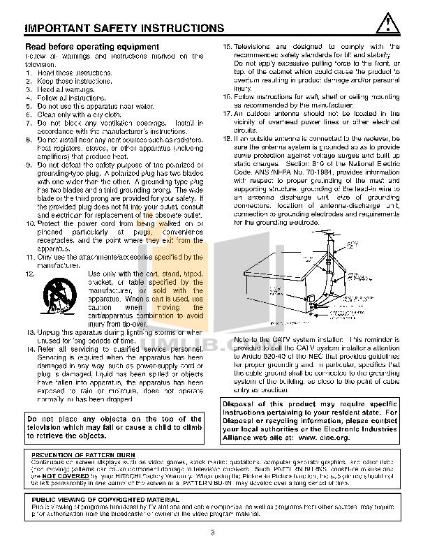 Hitachi TV 32UDX10S pdf page preview