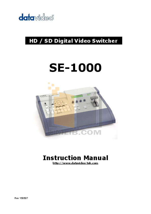 pdf for Datavideo Other SE-800 Switcher manual