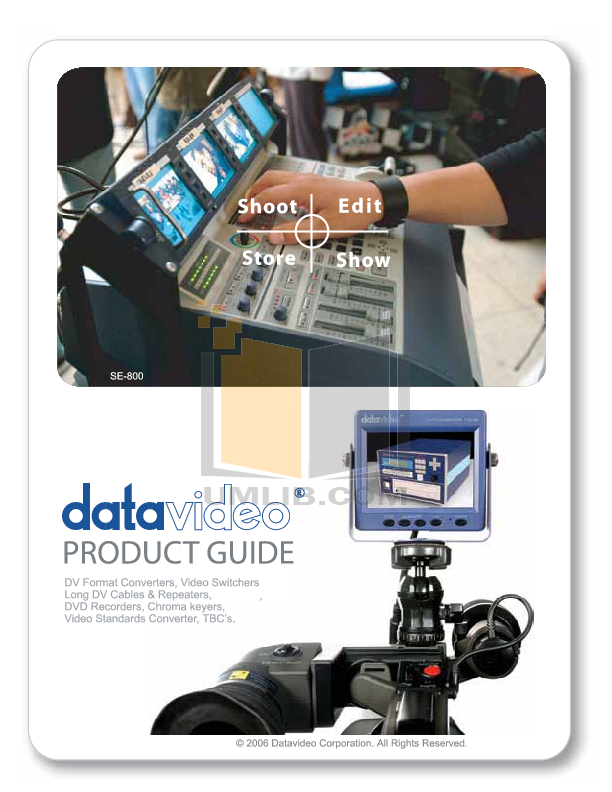 Datavideo Other SE-800 Switcher pdf page preview