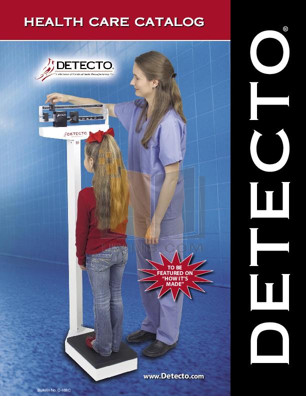 pdf for Detecto Printer P150 manual