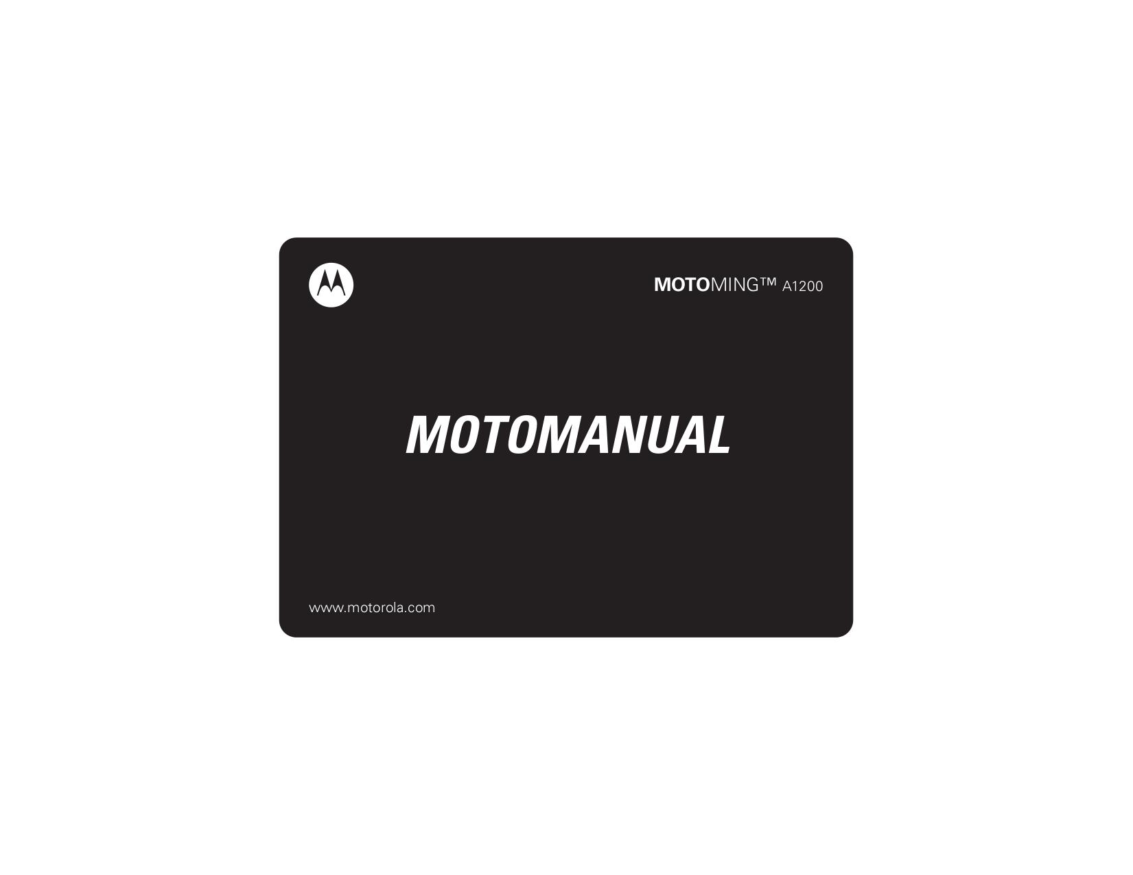 download free pdf for motorola ming cell phone manual rh umlib com Motorola Solutions Mobile Motorola A1200
