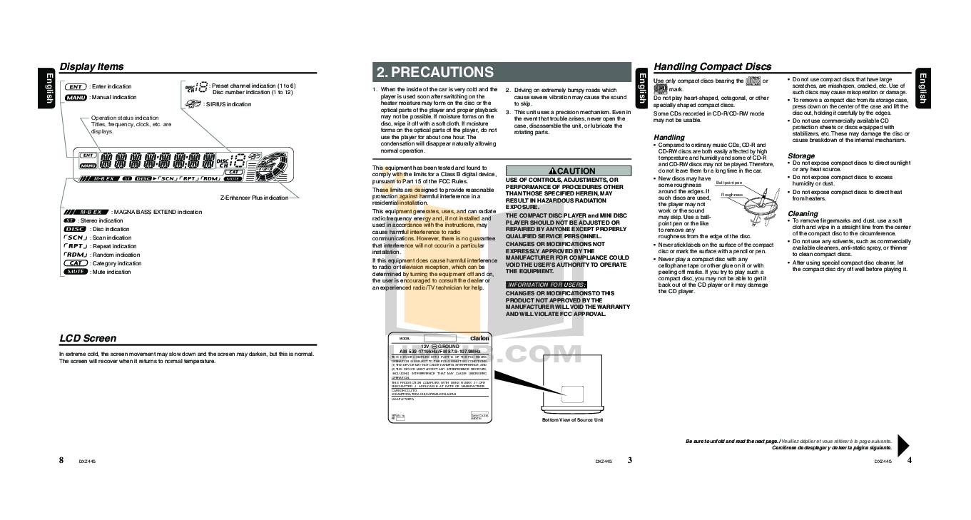 clarion dxz445 guide daily instruction manual guides u2022 rh testingwordpress co Clarion Car Dealerships Clarion Car Dealerships