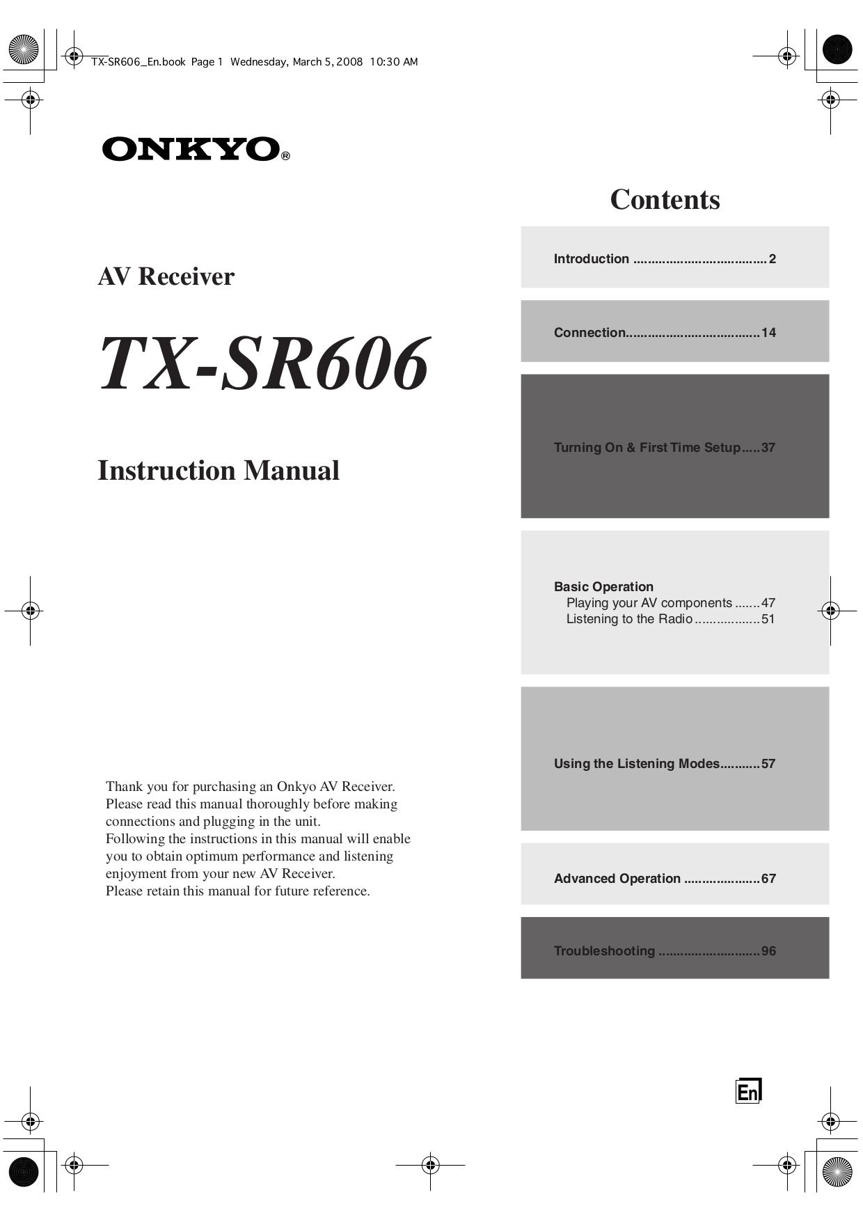 Onkyo Tx Sr606 Manual Pdf Wiring Diagram Schematic Diagrams