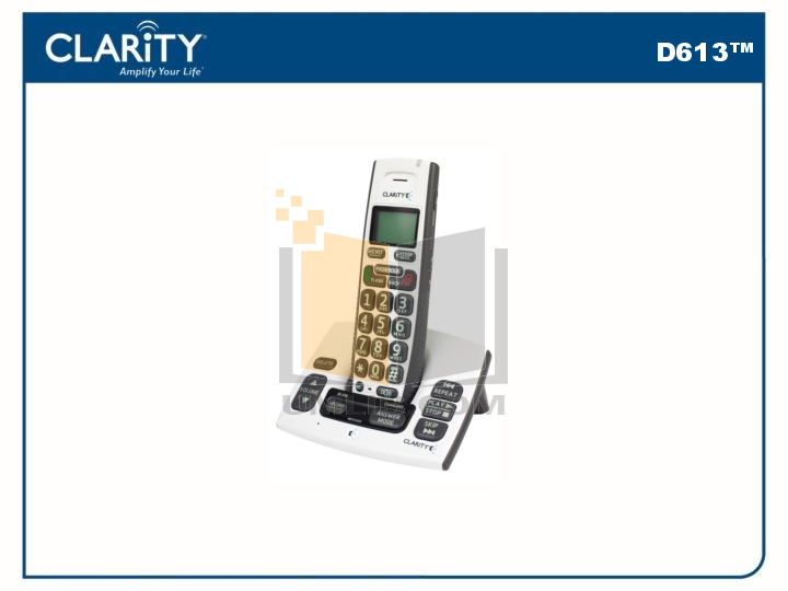pdf for Clarity Telephone D613HS manual