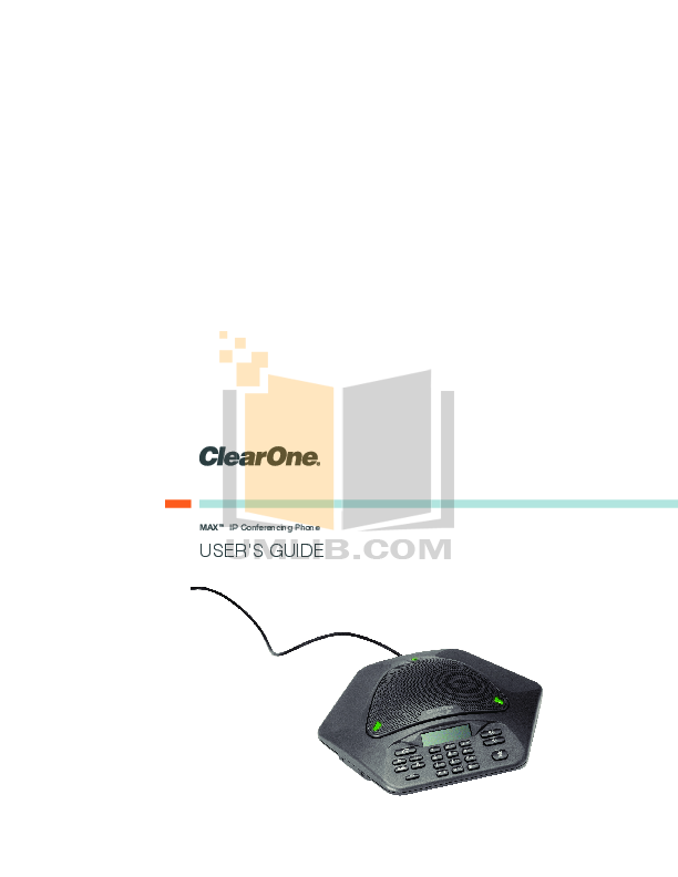 pdf for ClearOne Telephone MAX IP manual