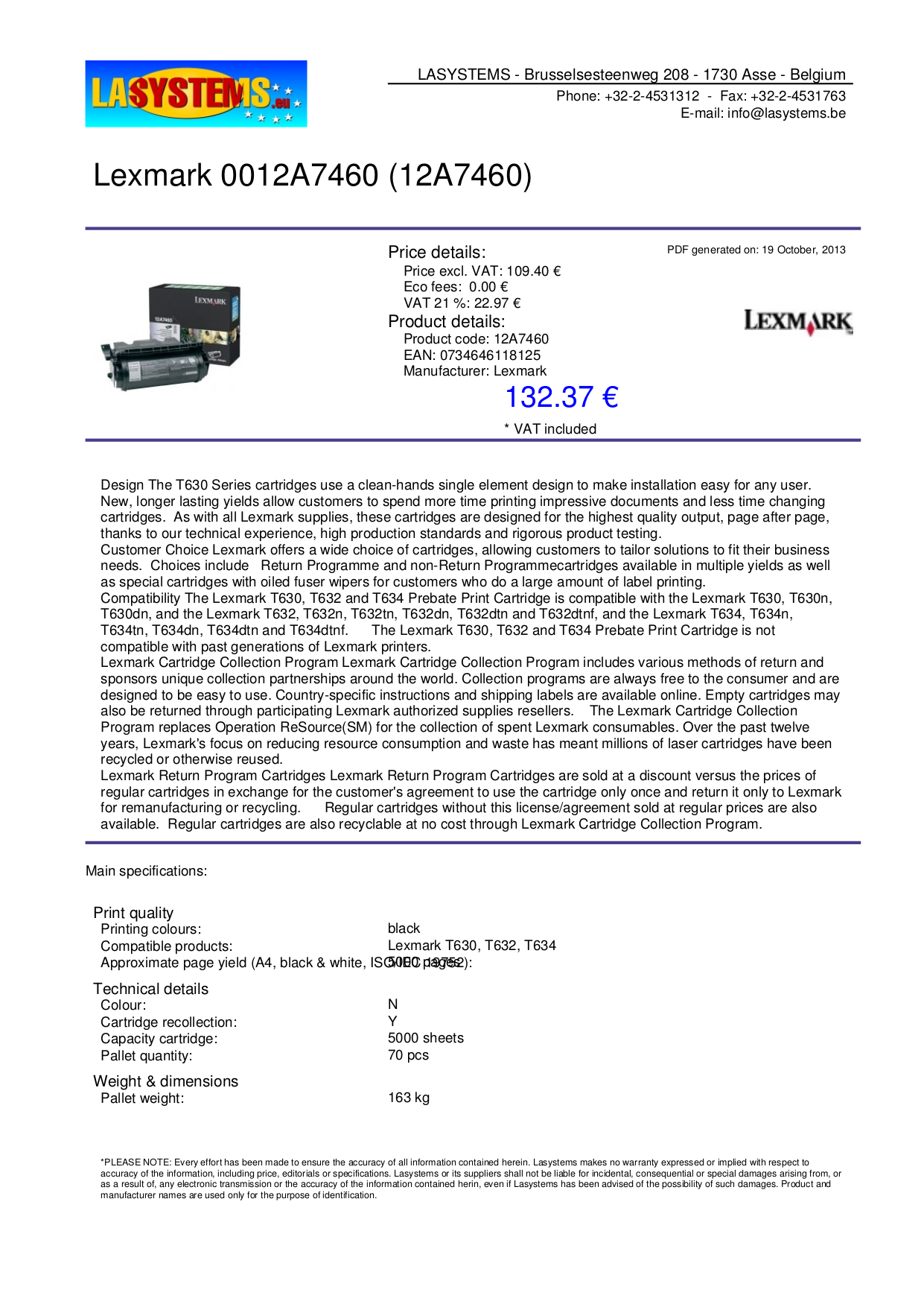 pdf for Lexmark Printer T632dn manual