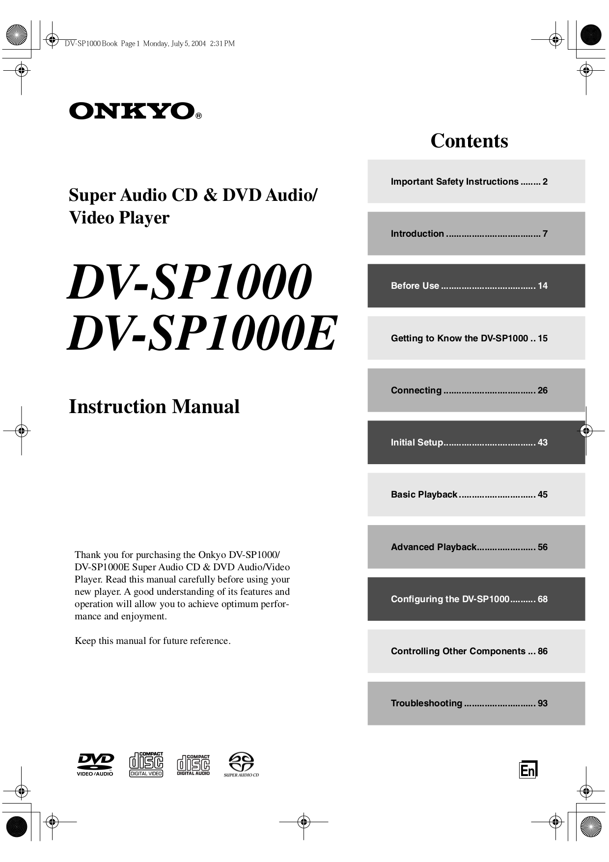 pdf for NAD Receiver S100 manual