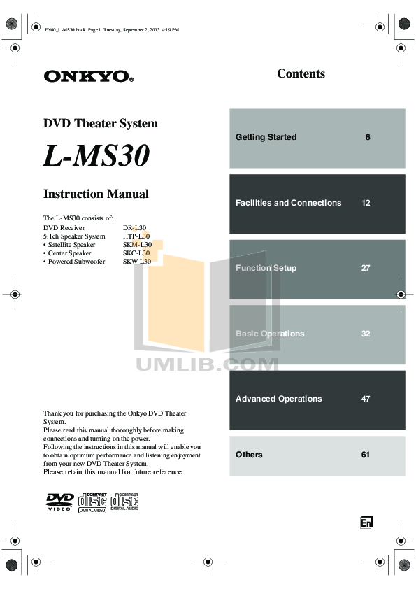 pdf for Eaw Speaker System MS30 manual