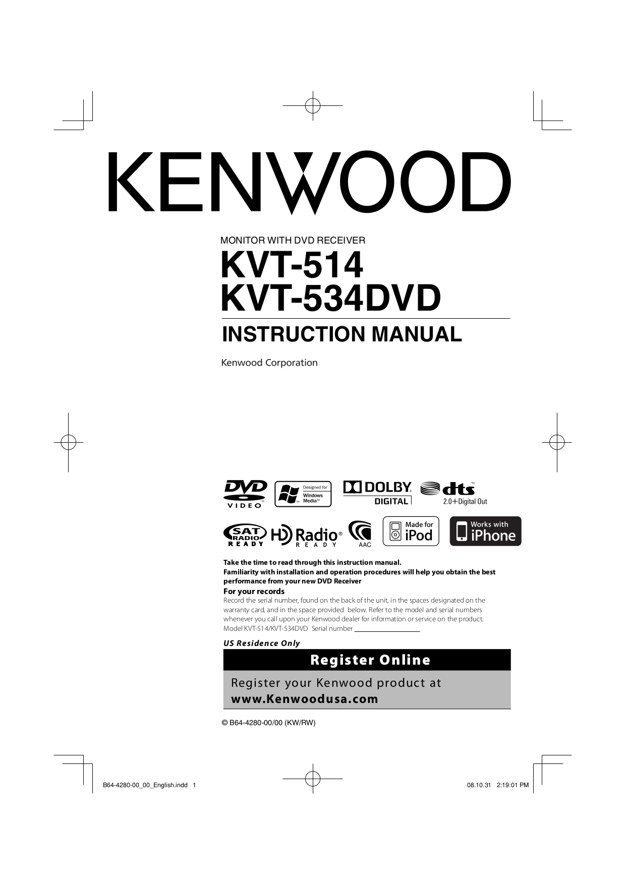 download free pdf for kenwood ss