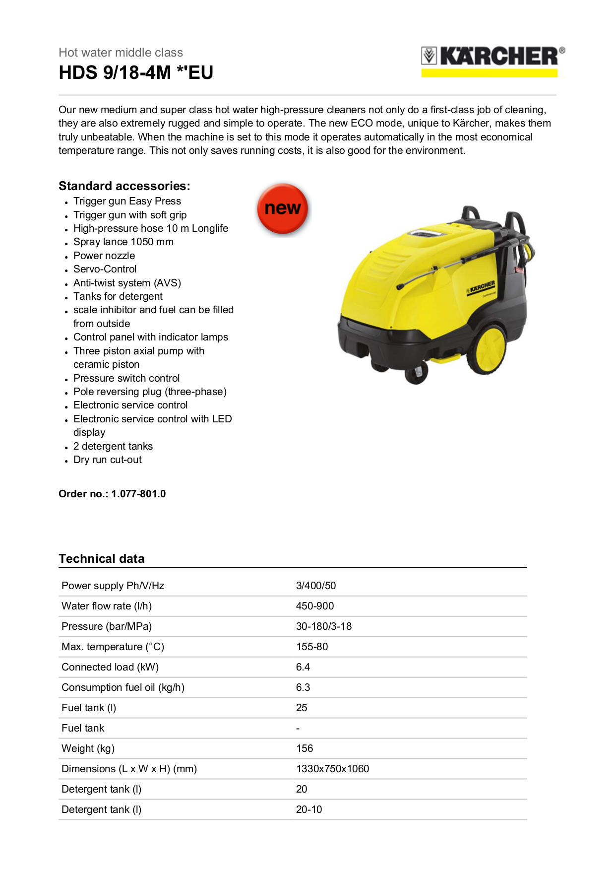 pdf for Karcher Other HD 2500 HK Pressure Washers manual