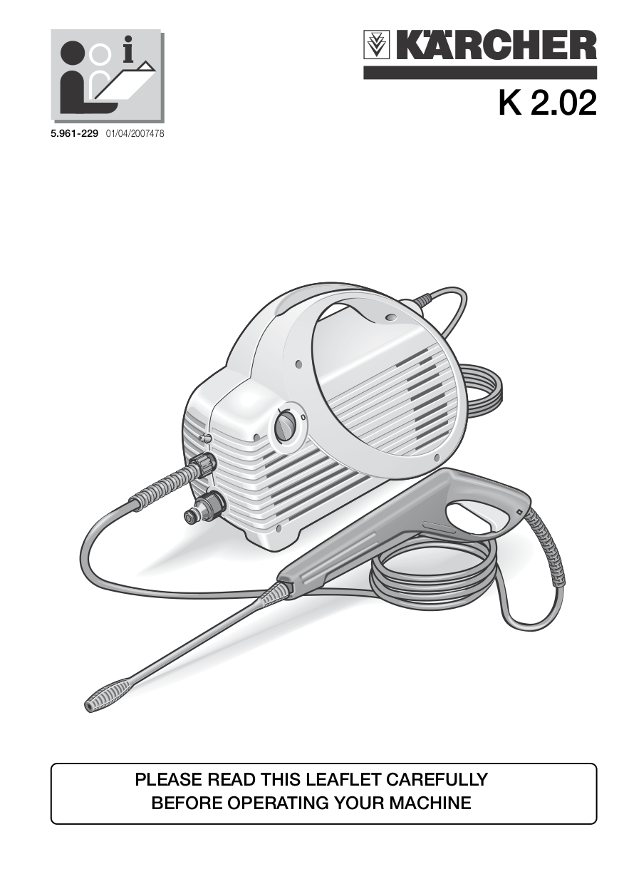 pdf for Karcher Other K 330 M Pressure Washers manual