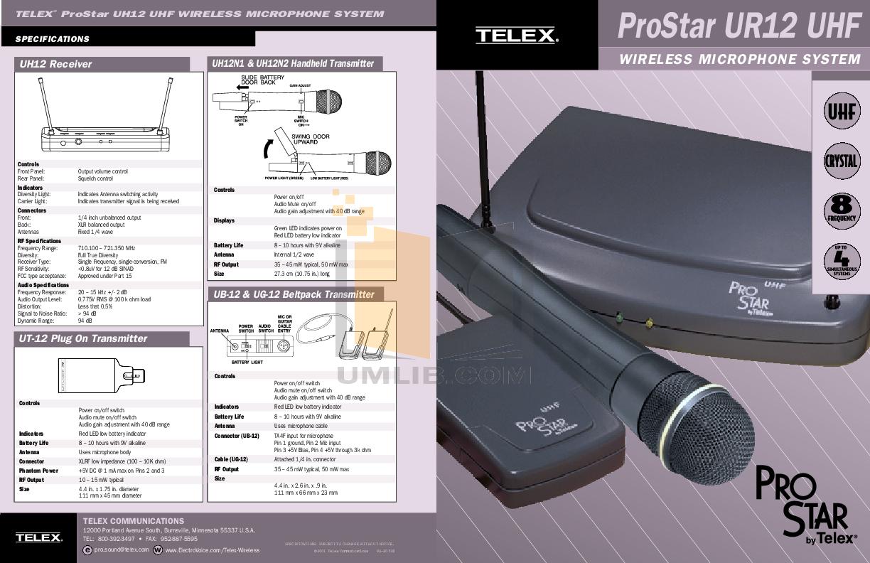 pdf for Eaw Speaker System UB12 manual