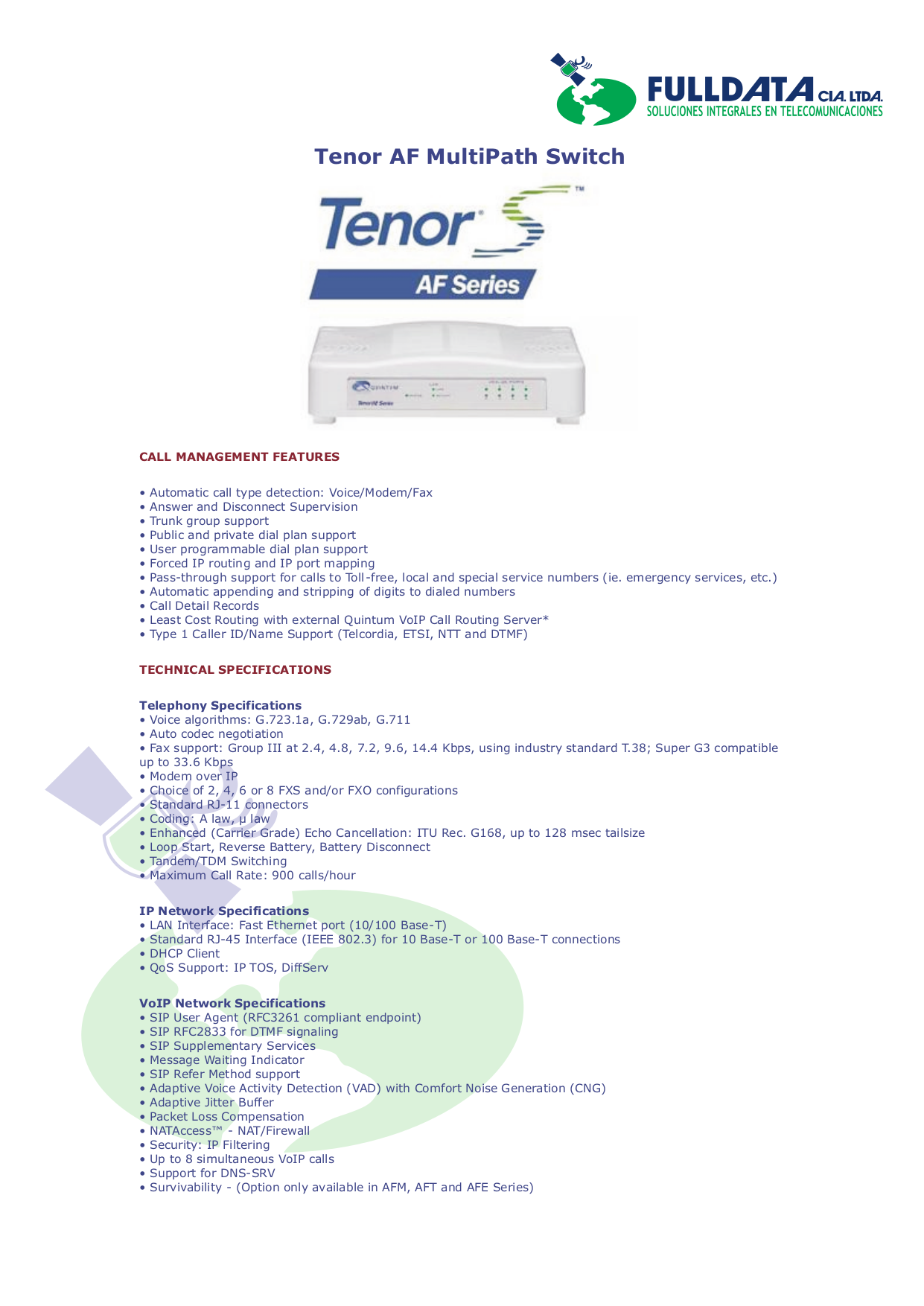 quintum tenor ax series manual
