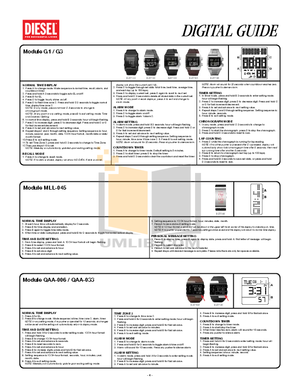 Diesel Watch DZ7194 pdf page preview