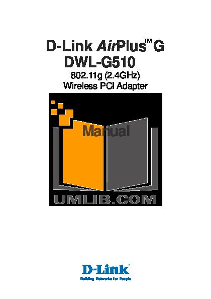 pdf for D-link Other DWL-520 manual