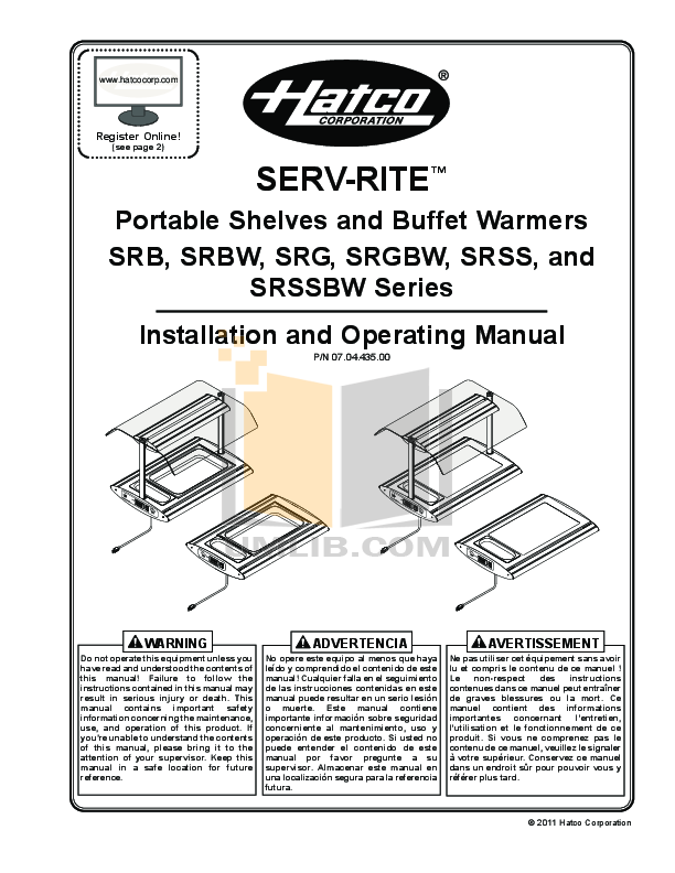 pdf for Hatco Other HWBI-4 manual