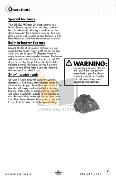 Bissell Vacuum 8930 pdf page preview