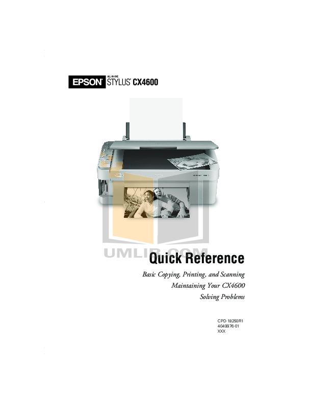 download free pdf for epson stylus cx6600 multifunction printer manual rh umlib com service manual epson stylus cx6600 Epson Stylus C88