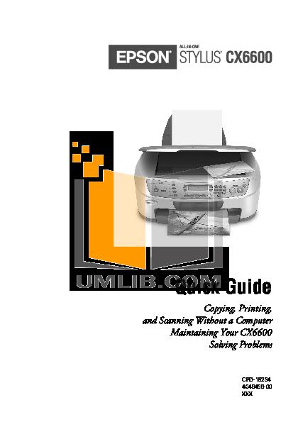 download free pdf for epson stylus cx6600 multifunction printer manual rh umlib com Epson Stylus CX6600 Connection Epson Stylus Photo 810