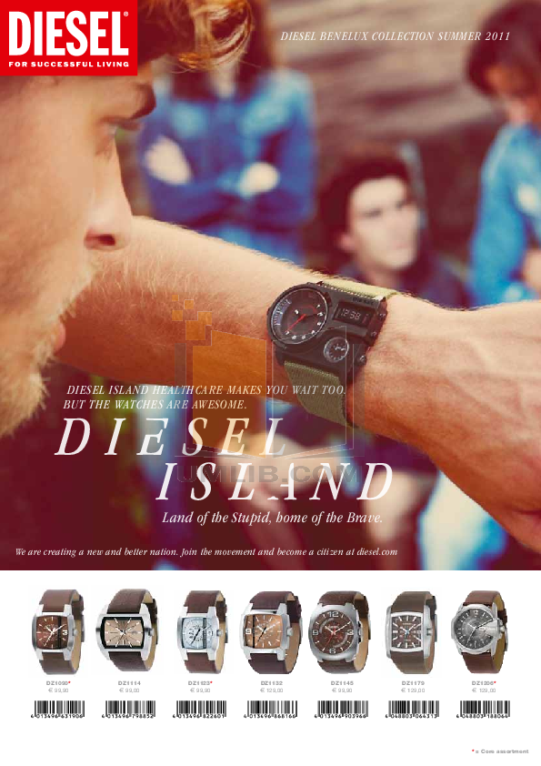 pdf for Diesel Watch DZ1433 manual
