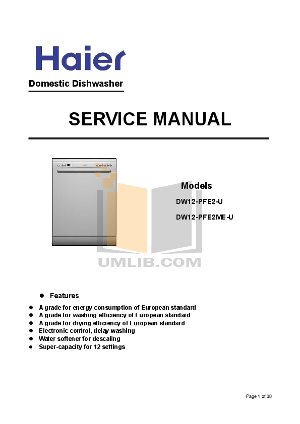 download free pdf for haier dw15 pfe2 dishwasher manual rh umlib com haier dishwasher manual hdw13g1x haier dishwasher manual hdw13g1w