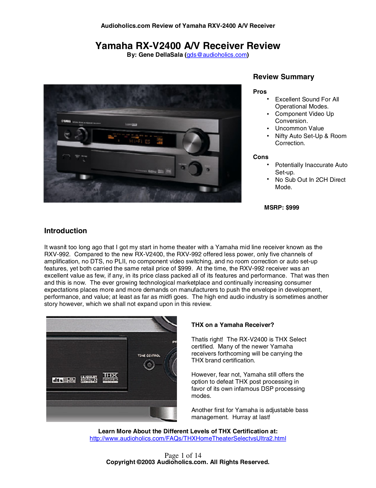 download free pdf for yamaha rx v2400 receiver manual rh umlib com Yamaha 2400 Manual Yamaha RX V6.61 Problems