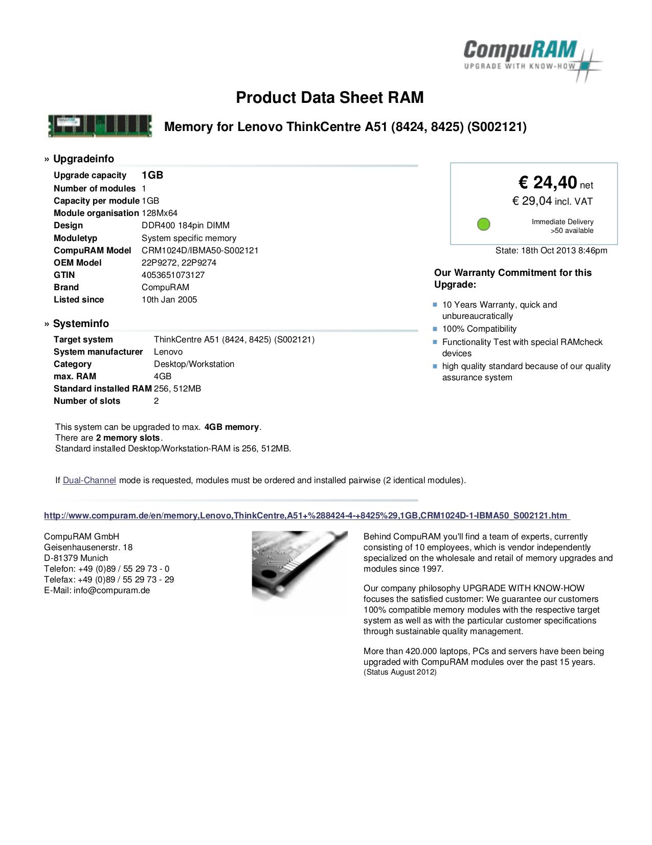 pdf for Lenovo Desktop ThinkCentre A51 8424 manual