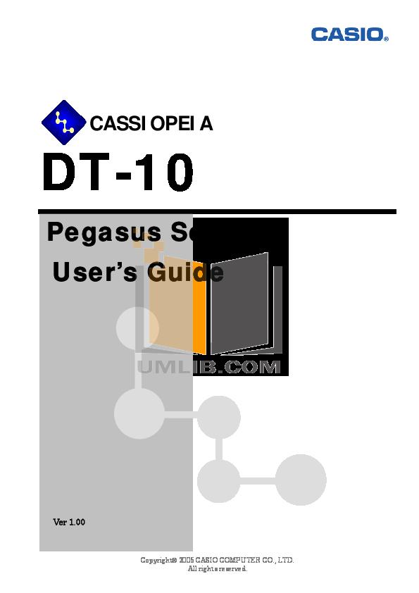 pdf for Casio PDA Cassiopeia Pocket PC manual