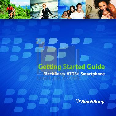 pdf for Blackberry Cell Phone 8703e manual
