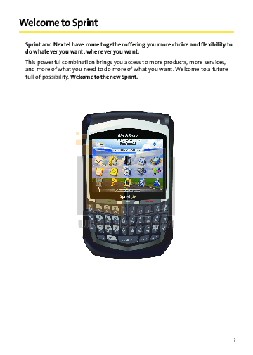 Blackberry Cell Phone 8703e pdf page preview