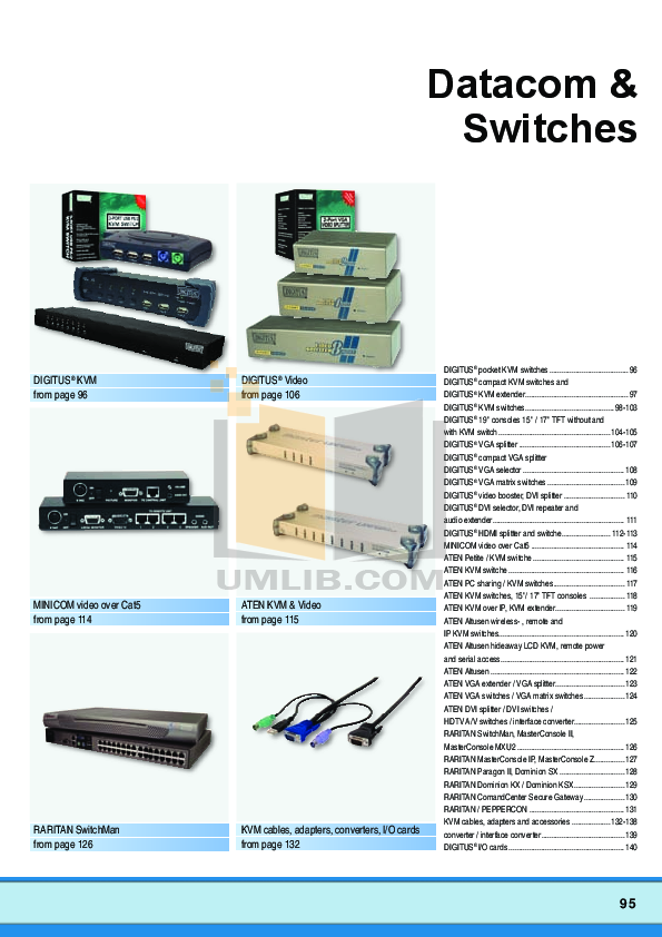 pdf for ATEN Other Altusen SN-0116 KVM Switch manual