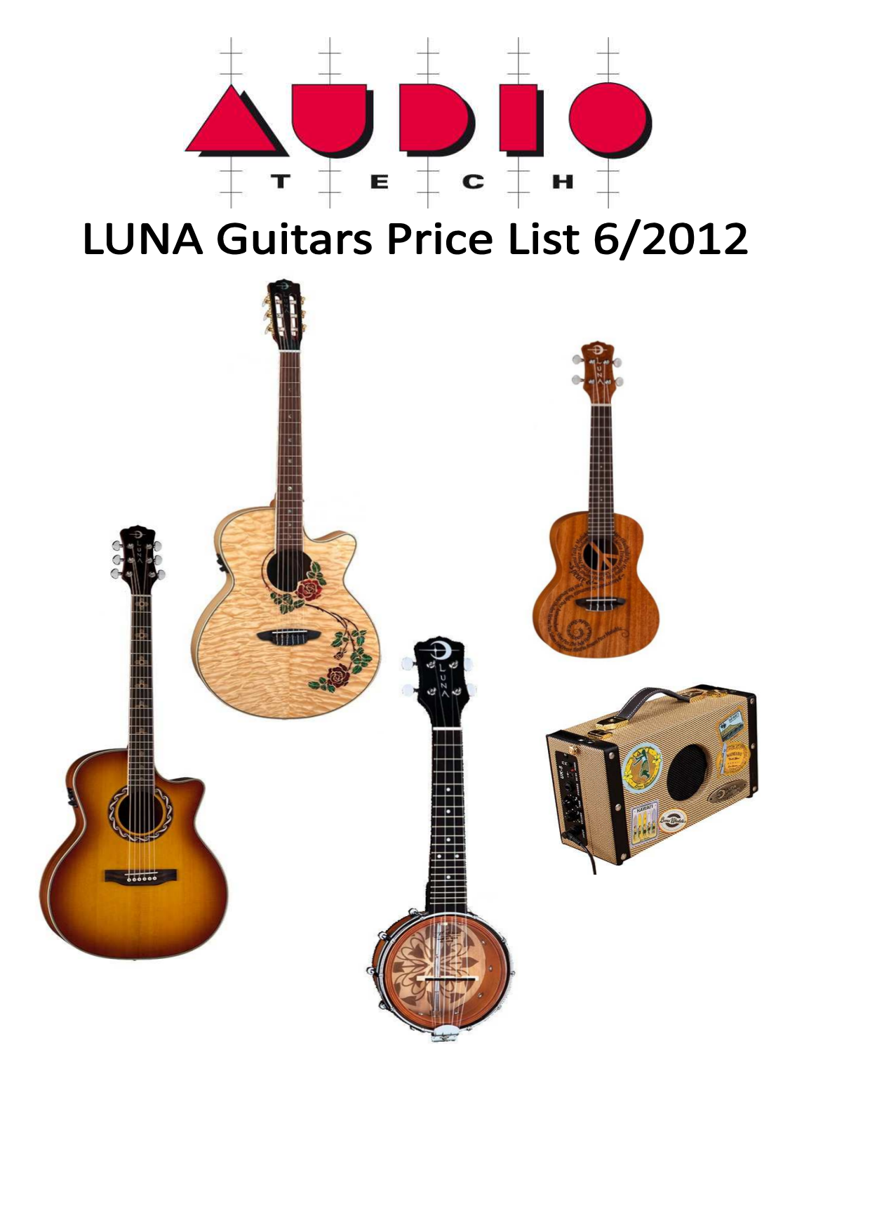 pdf for Luna Guitar Muse Bass manual
