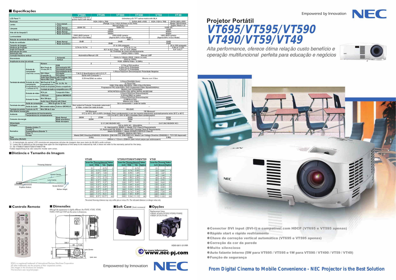 download free pdf for nec vt59 projector manual rh umlib com nec vt695 projector review NEC VT695 Review