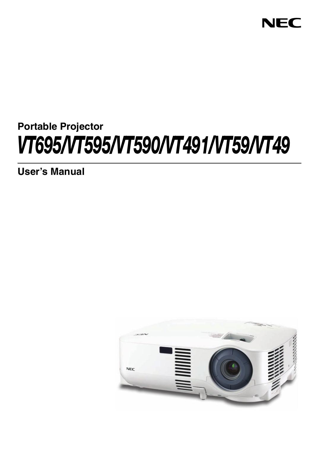 Download free pdf for nec vt59 projector manual.