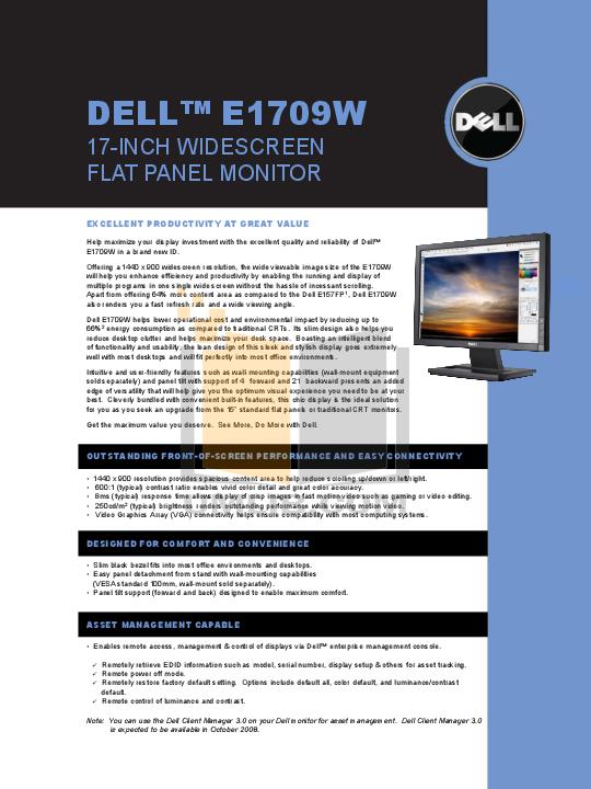 pdf for Dell Monitor E157FP manual