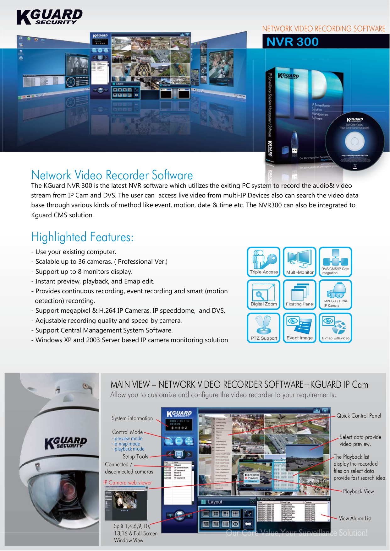 Kguard Security Camera CSN-3522-3 pdf page preview