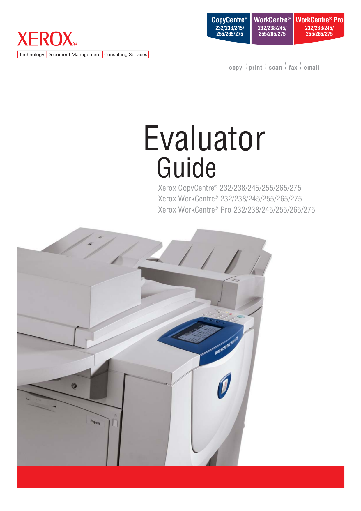 pdf for Xerox Copier CopyCentre 245 manual