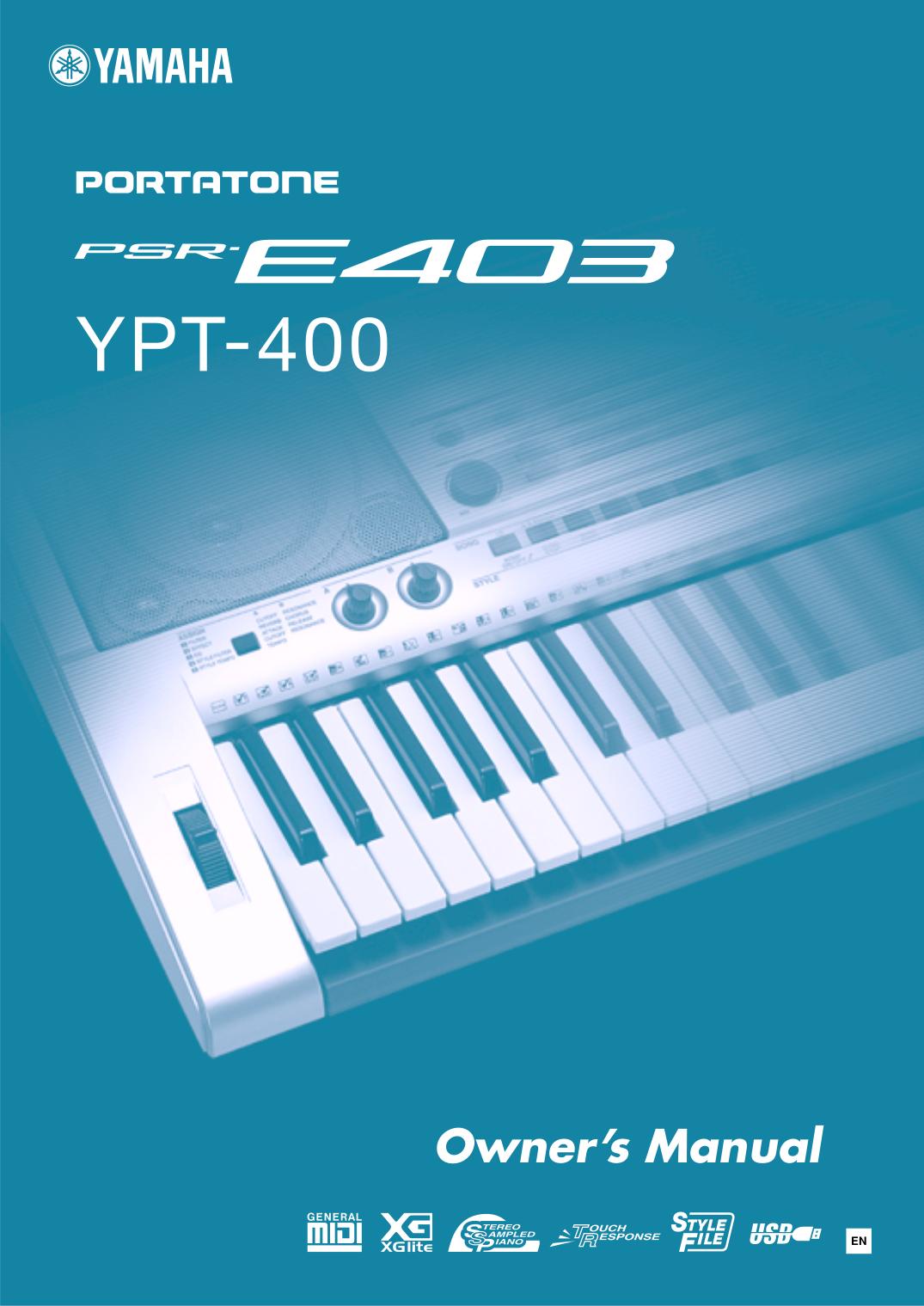Download free pdf for yamaha psr 410 music keyboard manual for Yamaha psr 410 keyboard
