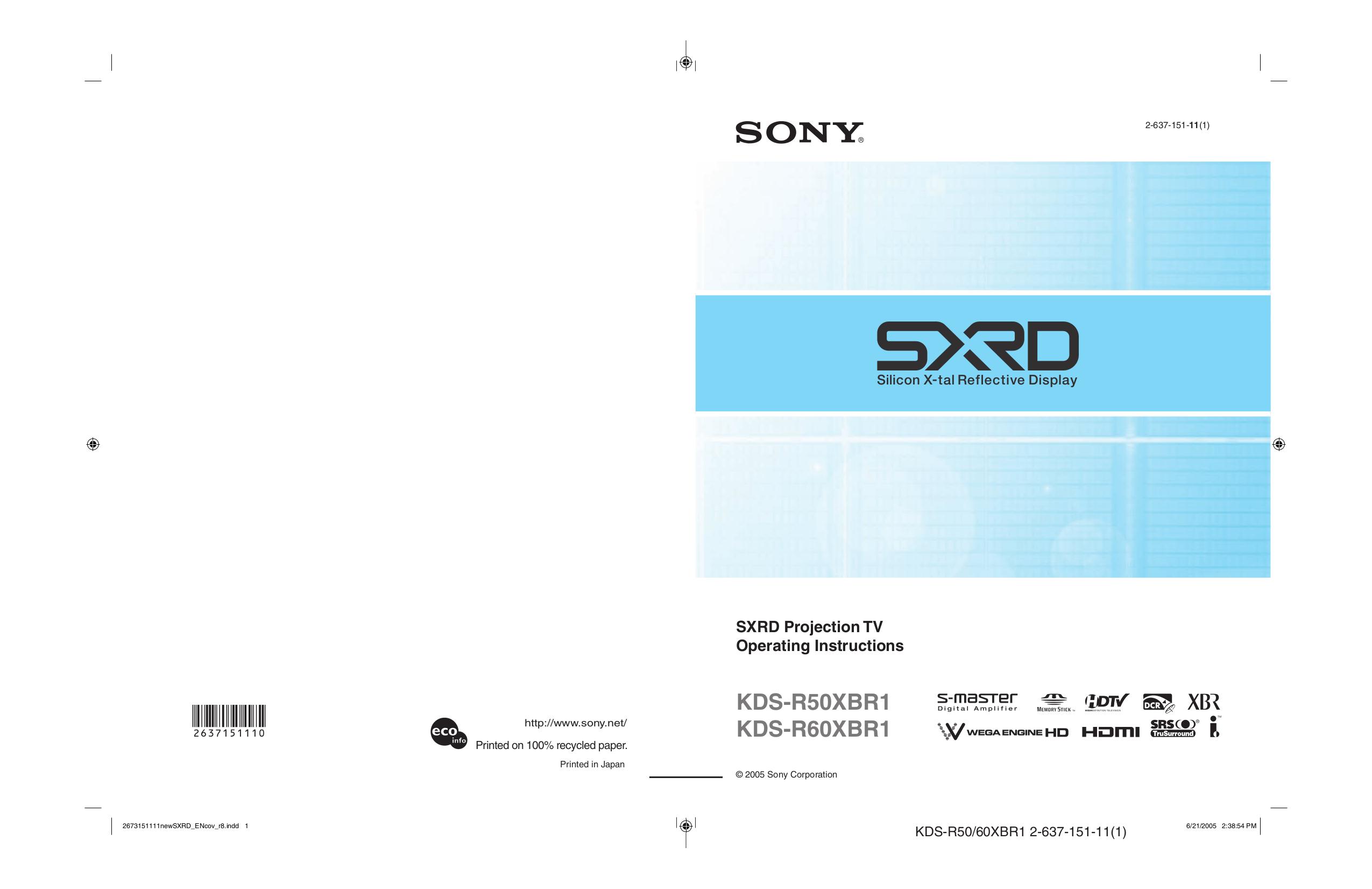 download free pdf for sony wega kds r60xbr1 tv manual rh umlib com sony kds-r60xbr1 manual sony kds r60xbr1 service manual