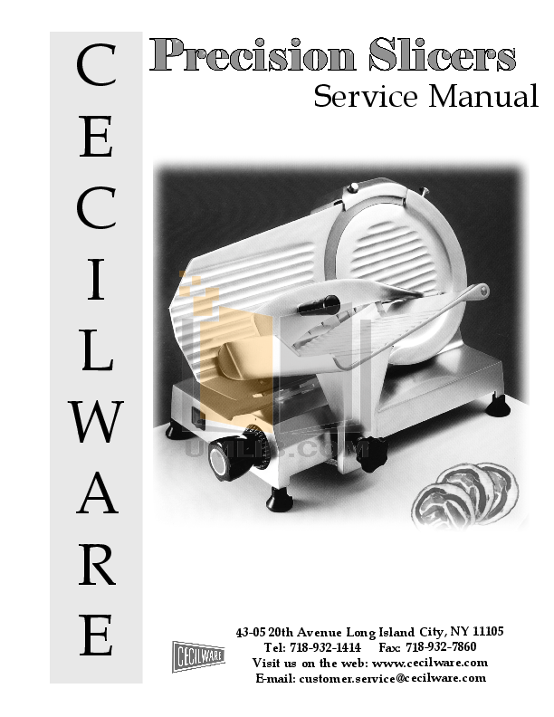 pdf for Cecilware Other HDPS-12 Slicers manual