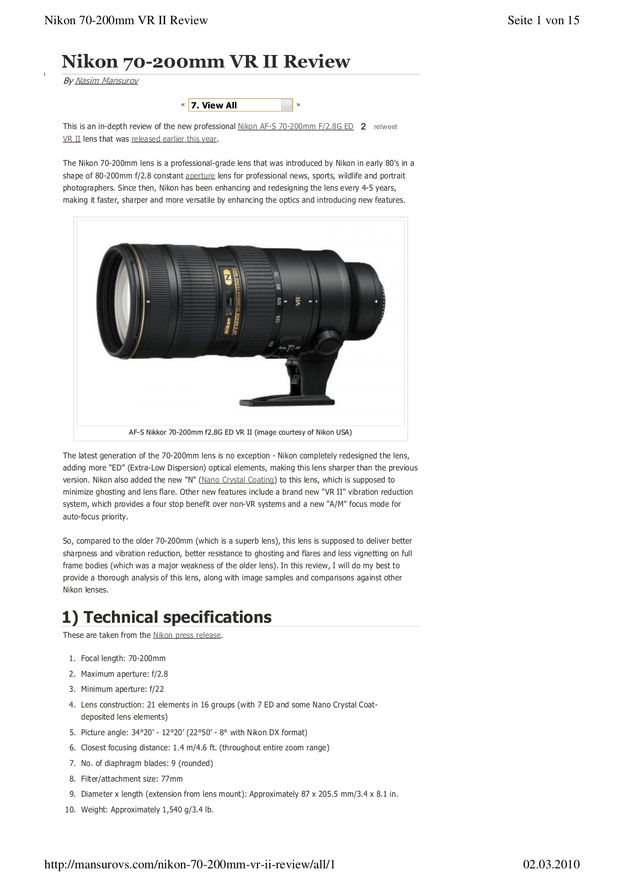 pdf for Nikon Other TC-17E II Camera Teleconverters manual