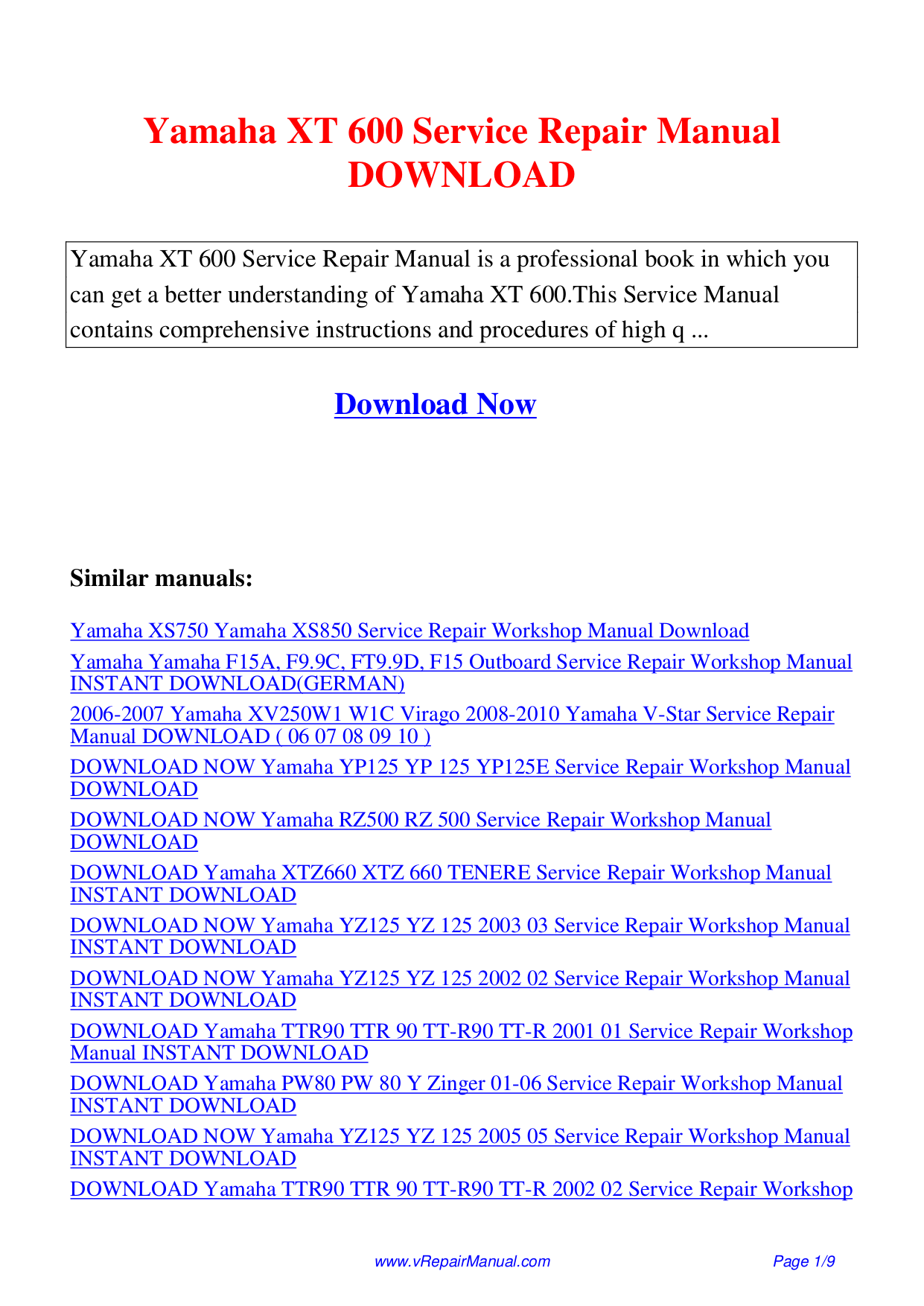Yamaha Amp DSP-A2070 pdf page preview ...