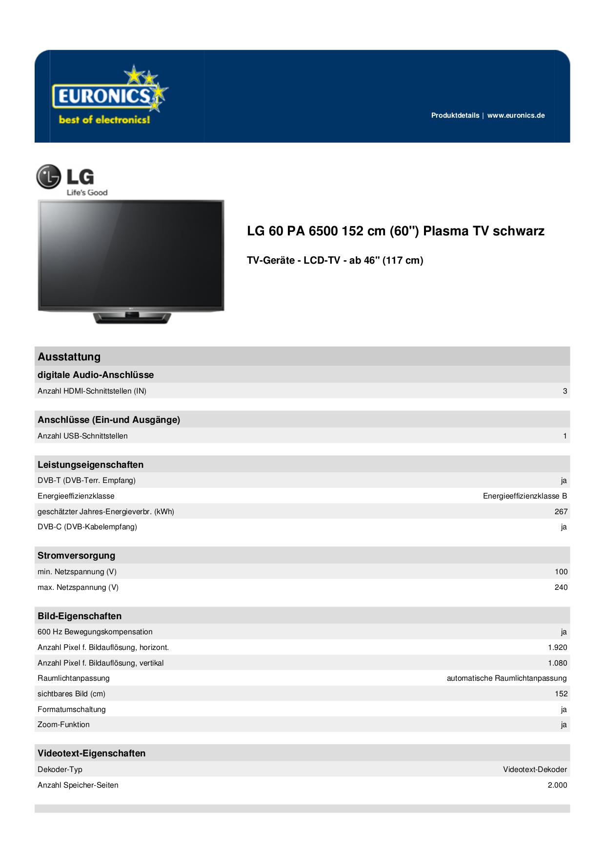 pdf for LG TV LG60 manual