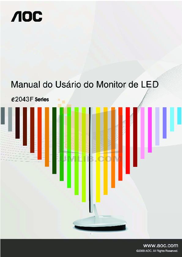 pdf for AOC Monitor E2043F manual