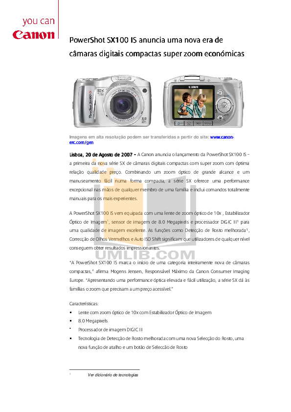 canon sx100 manual