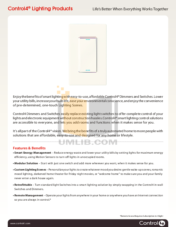 pdf for Control4 Other LDZ-101 Lighting-Dimmer manual  sc 1 st  UMLIB.com & Download free pdf for Control4 LDZ-101 Lighting-Dimmer Other manual